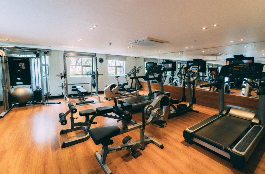 Staying at Sofitel Bogota; interior fitness center gym
