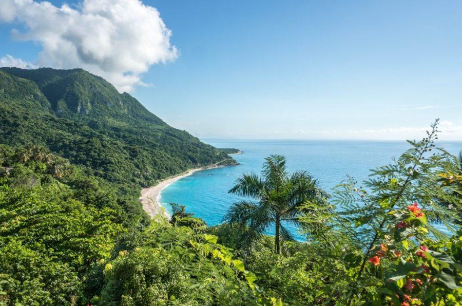 southwest Dominican Republic; beach shot of San Rafael lookout