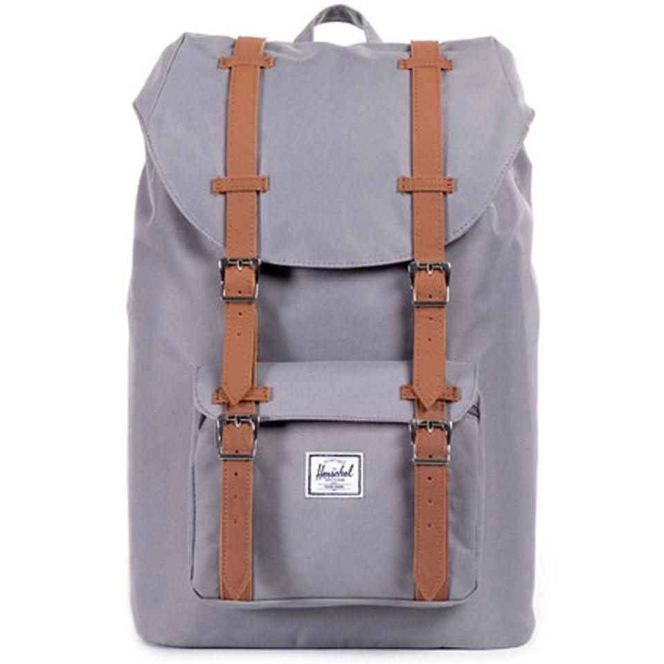 best holiday gift list; grey and brown herschel backpack