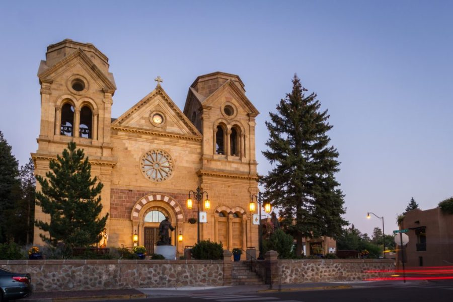 24 Hours in Santa Fe; historical church basilica of st francis