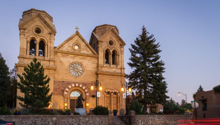 24 Hours in Santa Fe; historical church basilica of st francis