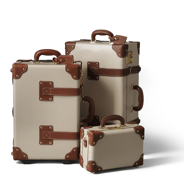 best holiday gift list; Steamline Luggage beige brown luggage set