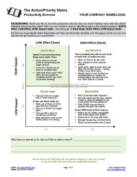 Action Priority Matrix Tool | Coaching Tools from The ...