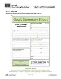 ANNUAL Goal-Setting Worksheet | Coaching Tools from The ...