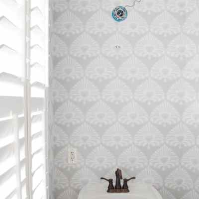 Powder Room Wallpaper + Part One