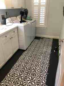 Stenciled Tiles During