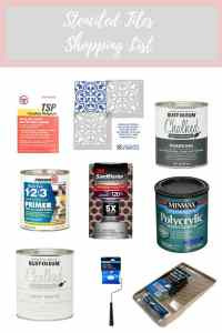 Stenciled Tile Shopping List