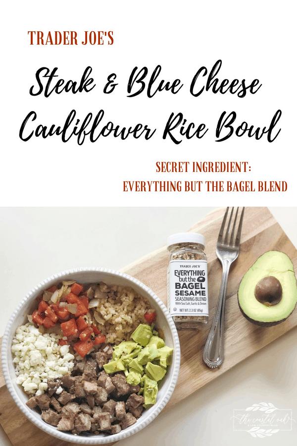 Steak and Blue Cheese Cauliflower Rice Bowl