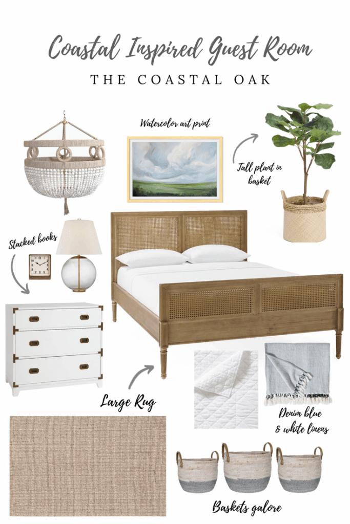 Coastal Inspired Guest Room