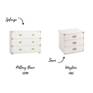 Furniture Splurge and Save