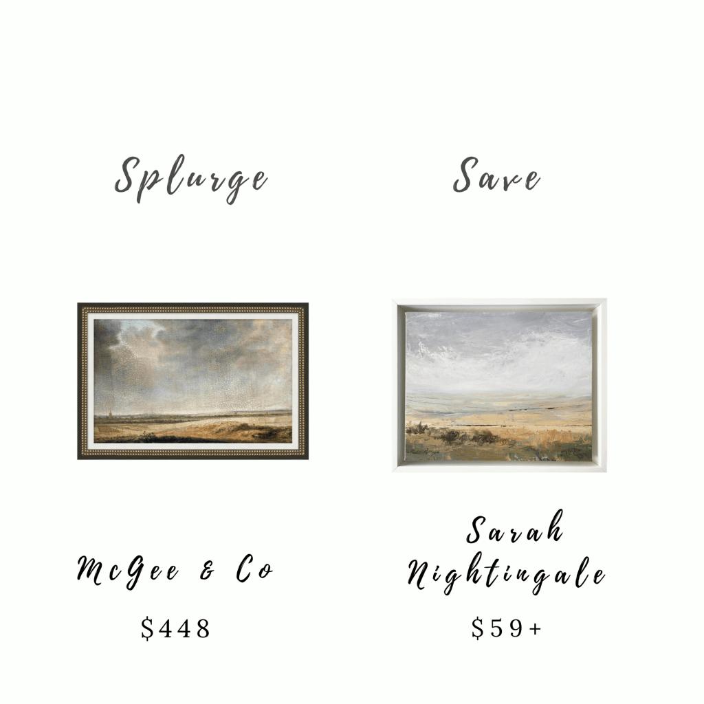 Splurge and Save Art