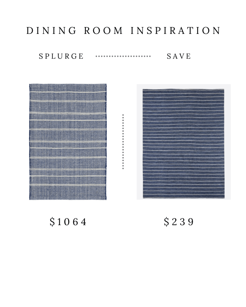 BLUE STRIPED RUGS