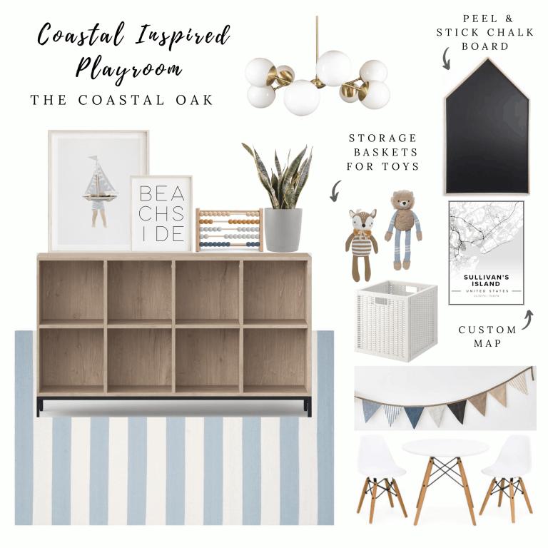 Coastal Inspired Playroom – Splurge & Save