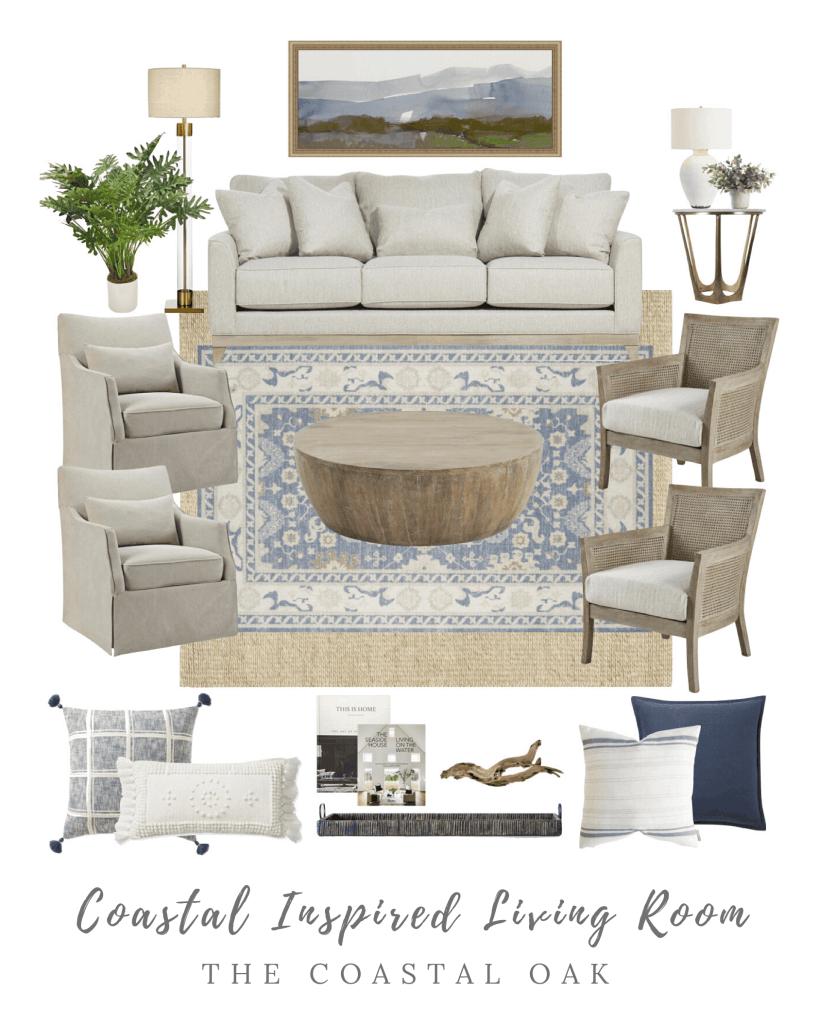 Coastal Living Room Moodboard