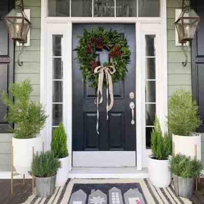Home for the Holidays Front Porch Makeover
