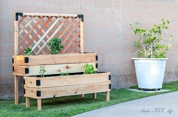 Anika's DIY Life Tiered Raised Garden Bed