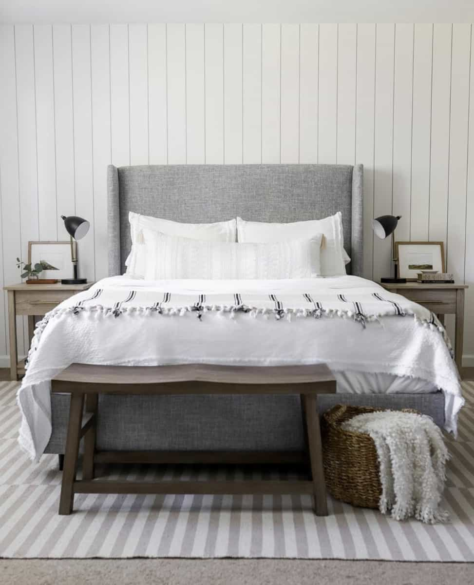 Classically Dunn Vertical Shiplap Bedroom