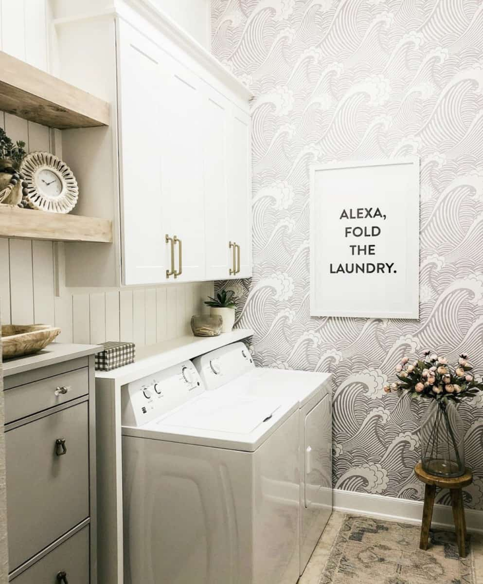The Blooming Nest Vertical Shiplap Laundry Room