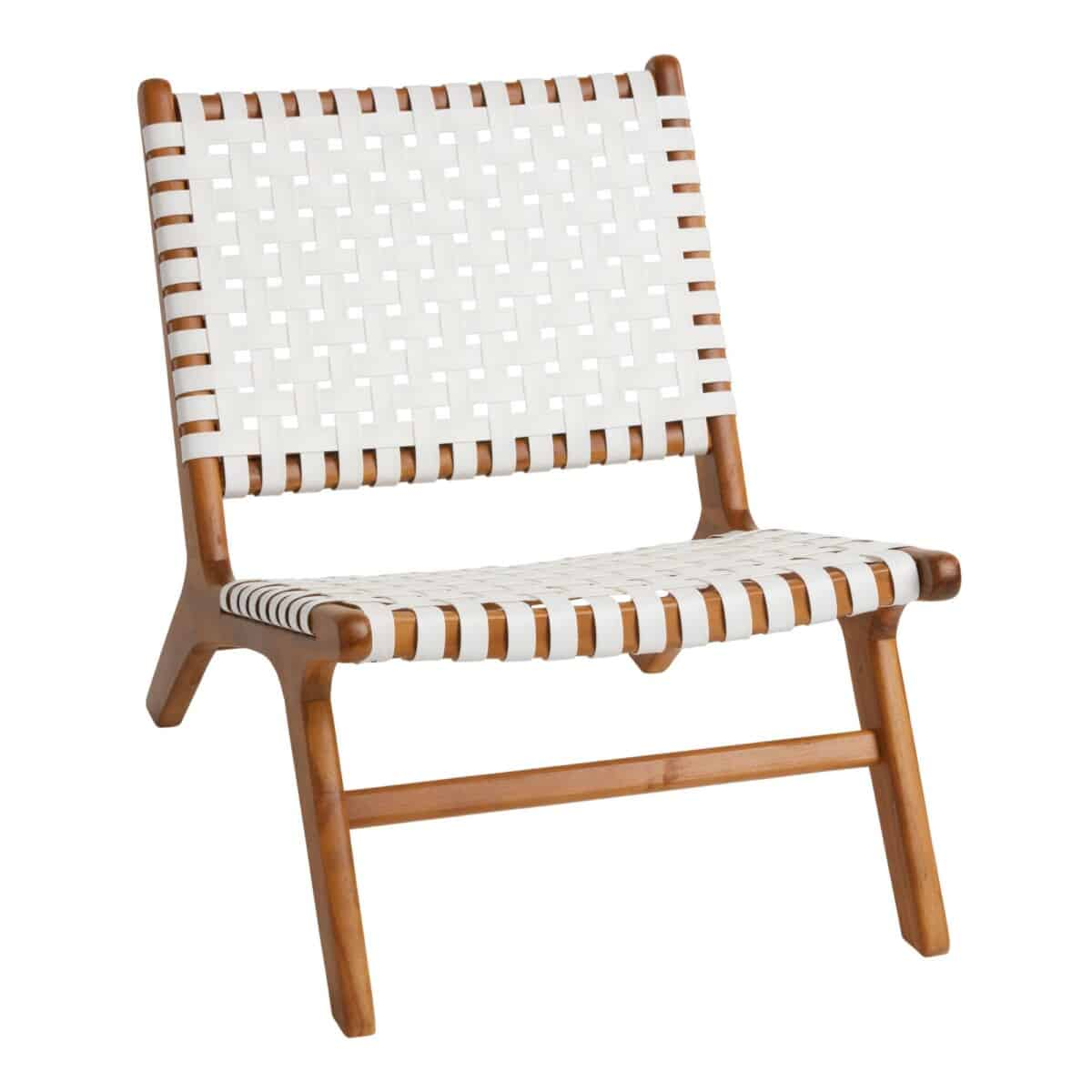 White Strap Girona Outdoor Accent Chair Set Of 2