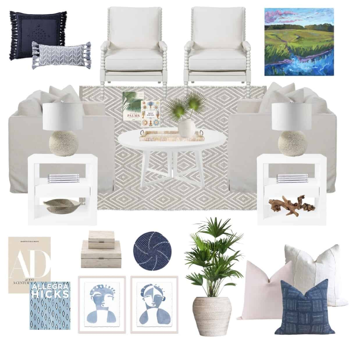 Living Room Design Board