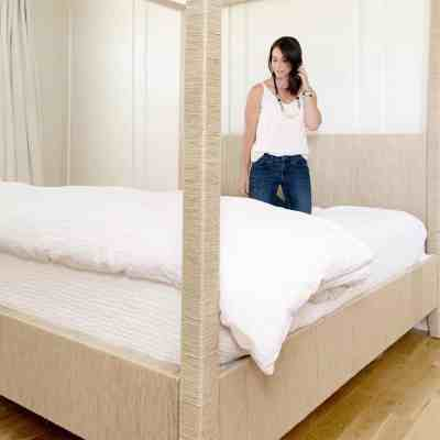 DIY Seagrass Woven Canopy Bed