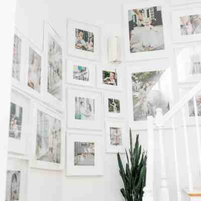 Large Gallery Wall Using Ikea Ribba Picture Frames