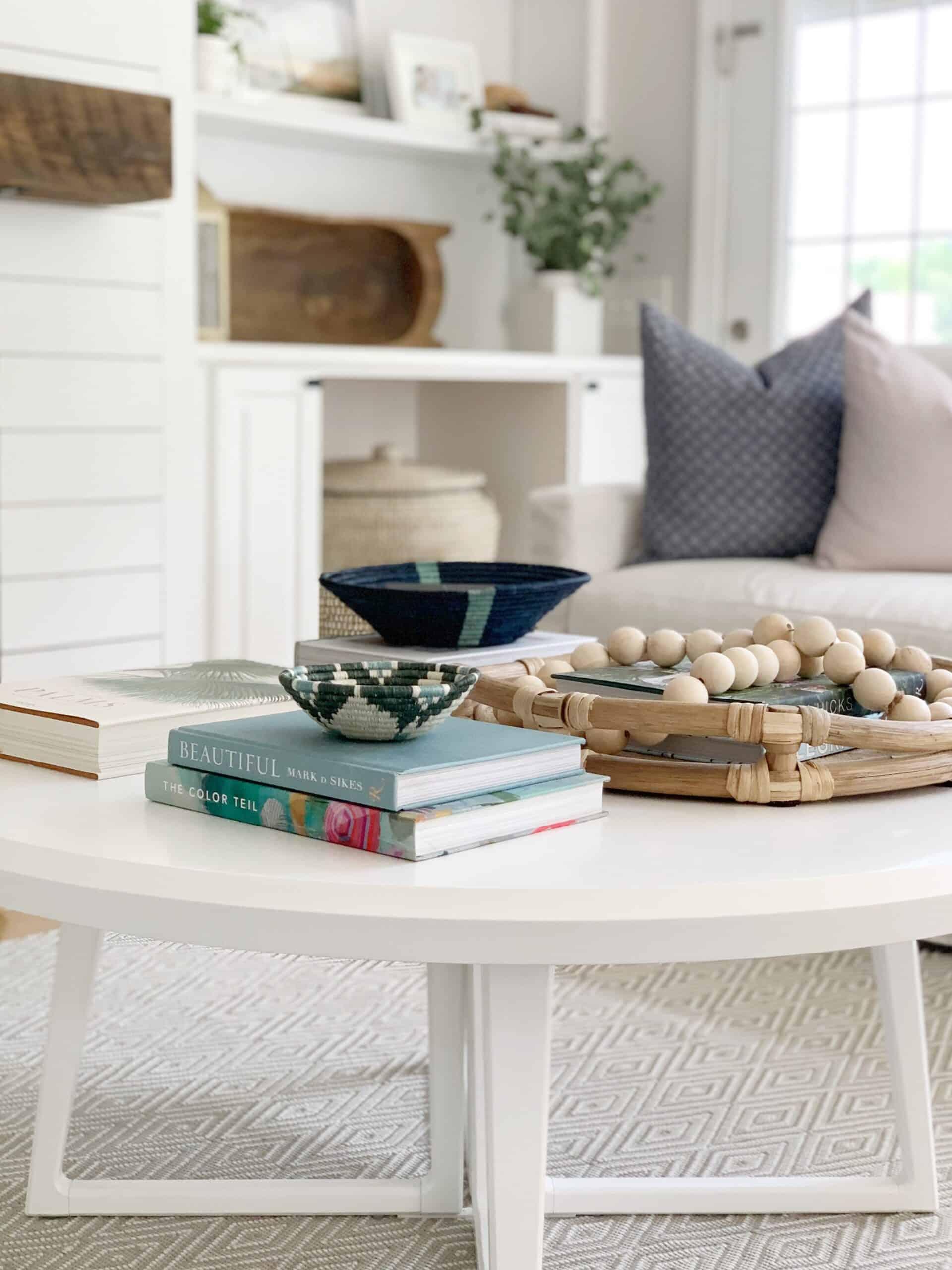 Beautiful books for styling your coffee table. #coastalbooks #coastaldecor #coffeetablebooks #coffeetablestyling #booksfordecor #decorbooks #prettybooks #serenaandlily #serenalily #coastallivingroom #livingroomdecor #interiordesign