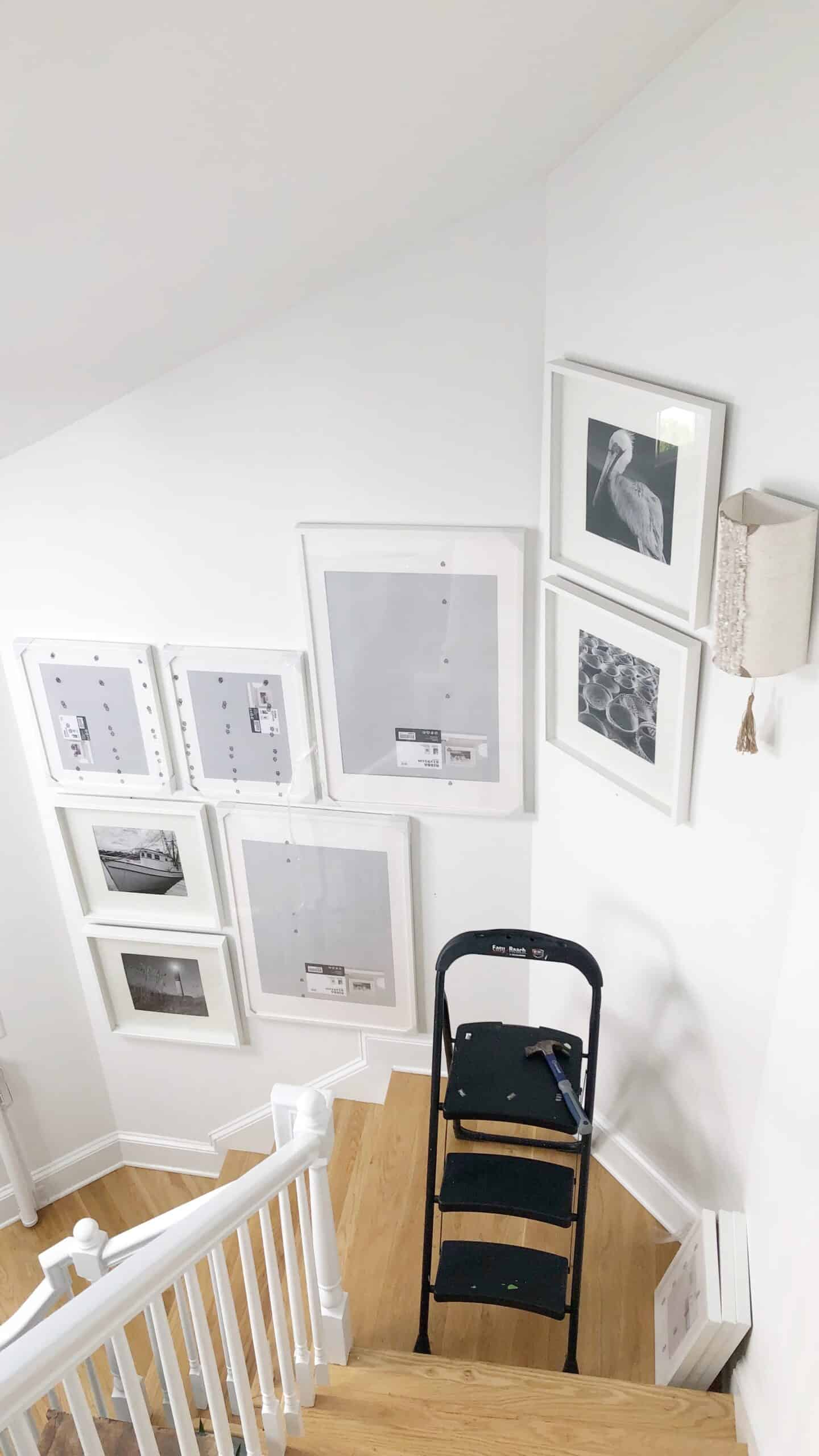 Large Gallery Wall Using Ikea Ribba Picture Frames The Coastal Oak