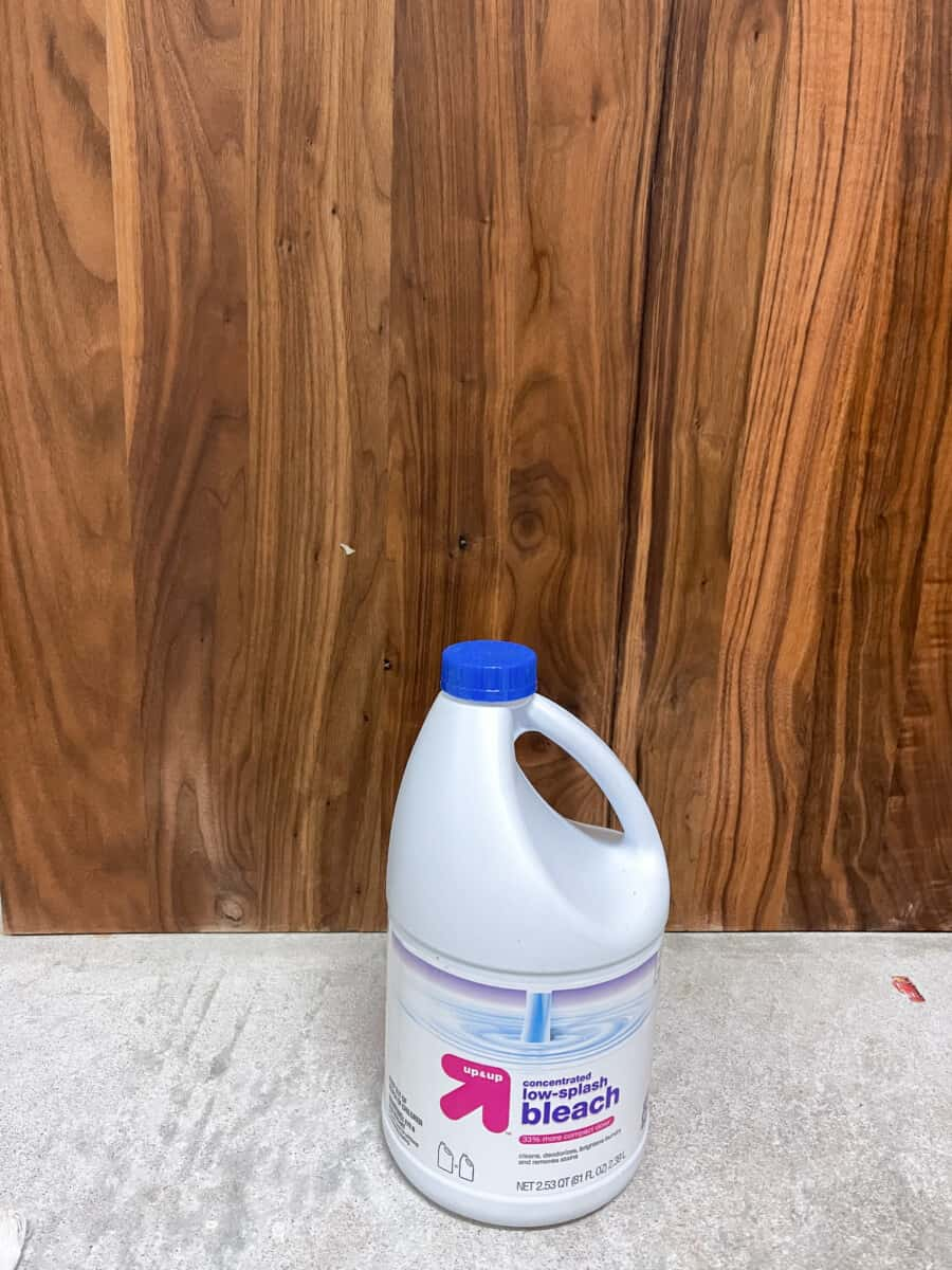 How to bleach wood using household bleach, oxalic acid, and two part a/b wood bleach.  How to lighten wood.  How to remove red from wood.  Bleaching cedar.  Bleaching red oak.  How to remove stains from wood.  #woodbleach #refinishingfurniture #redoak #cedar #bleachingcedar #removingstains #woodstains #lightenwood
