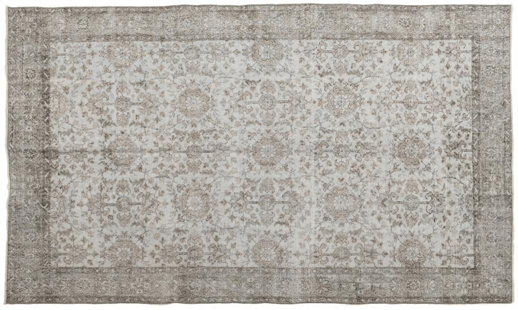 hand-knotted blue vintage rug