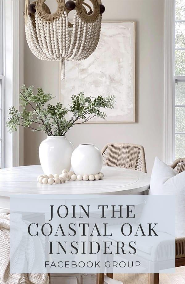 Join The Coastal Oak Insiders Facebook Group