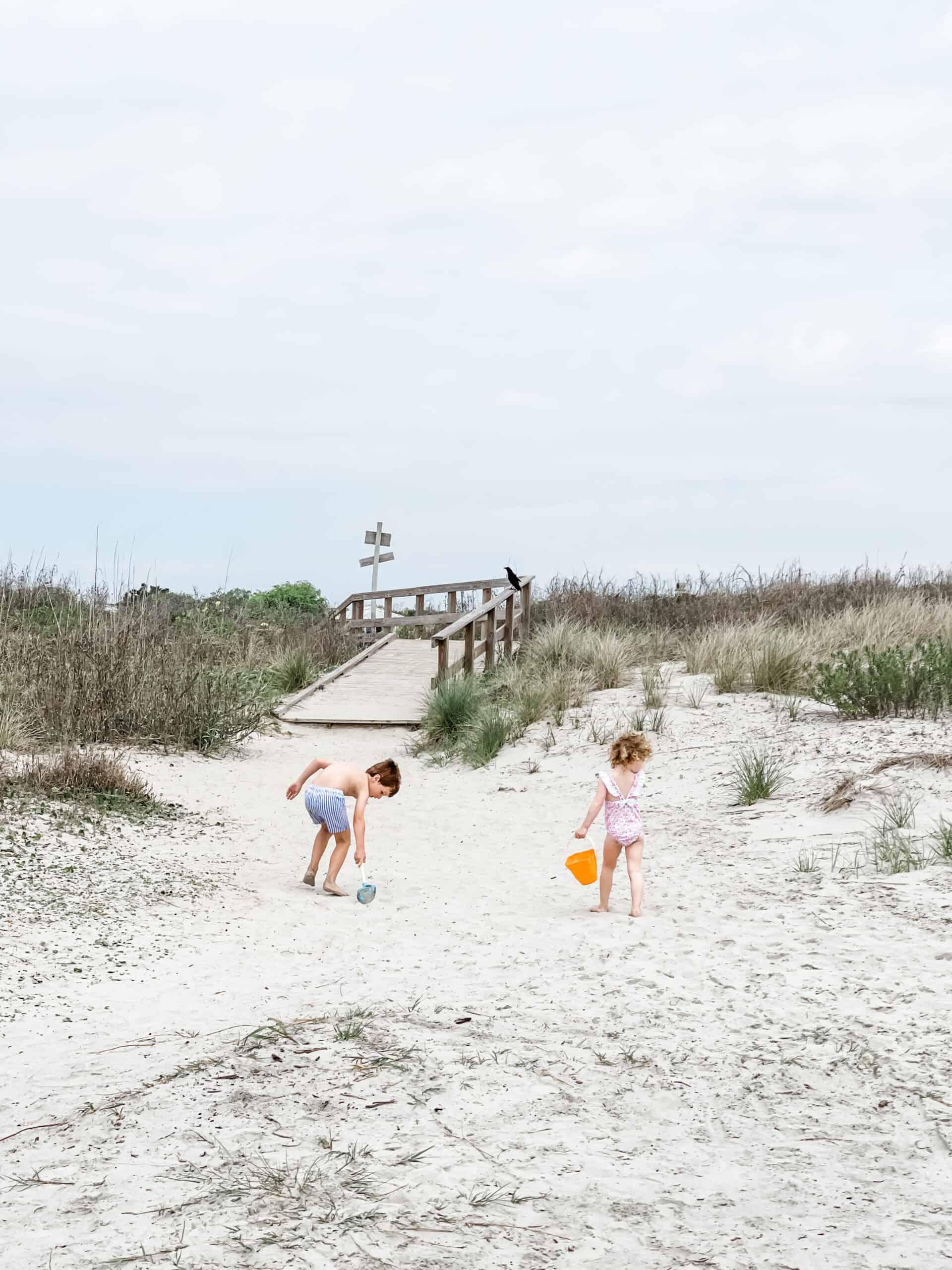 Kids playing on Sullivan's Island