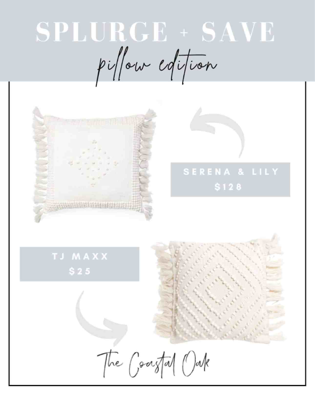 Pillow Looks for Less