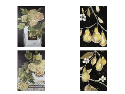 fruit and flower prints