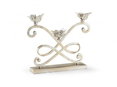 silver ornate candle holder