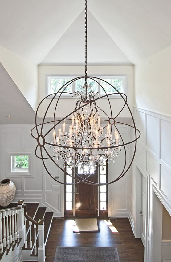 Home lighting guidelines including chandelier size and placement tips how to determine the size placement of a chandelier use this formula aloadofball Images