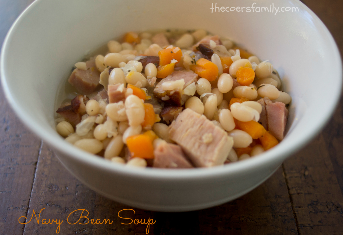 Navy Bean Soup In The Crock Pot The Coers Family
