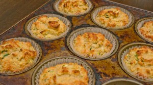 making Trim Healthy Mama Zucchini Muffins