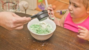 making scented play dough