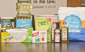 ingredients to make scented play dough