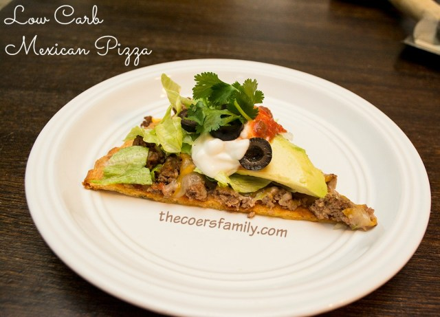 Low Carb Mexican Pizza from thecoersfamily.com