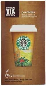 Starbucks via colombia roast review