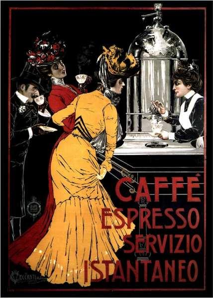 vintage espresso poster
