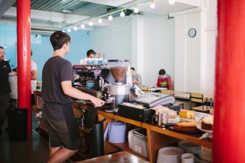 Prufrock Coffee espresso machine