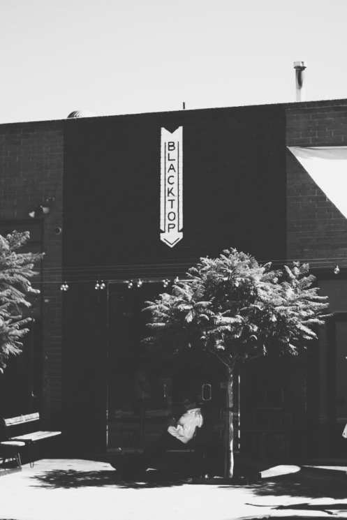 Blacktop Coffee Storefront BW