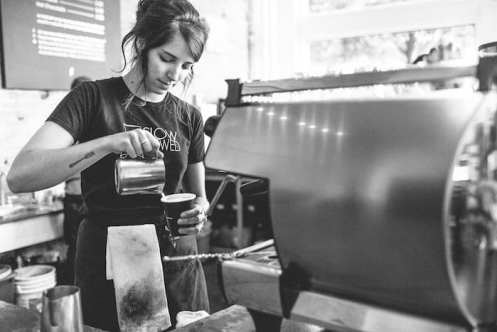 Madcap Coffee Grand Rapids latte art