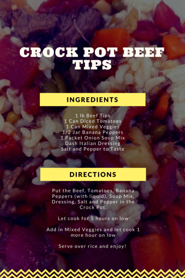Simple and delicious crock pot beef recipe.