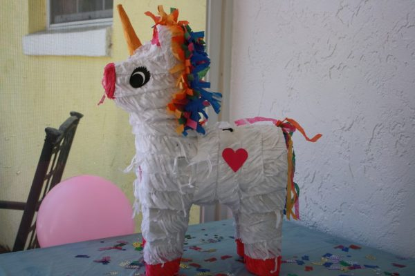 Unicorn Pinata for a unicorn birthday party