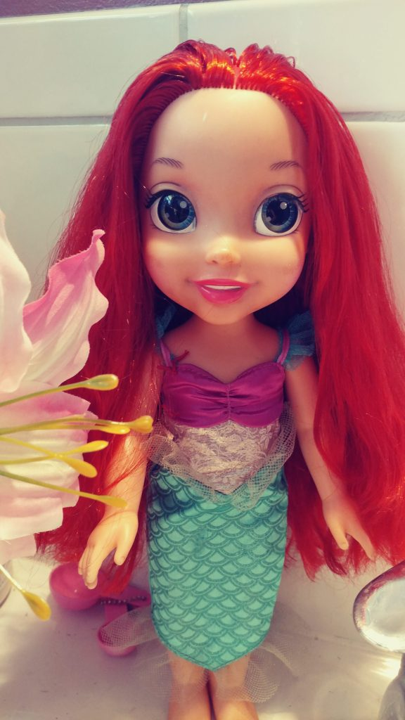 Ariel's doll hair repair.