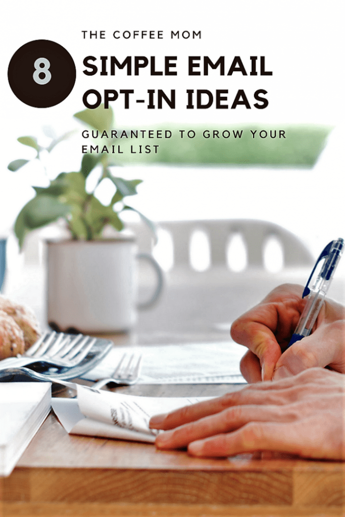 8 email opt-in ideas to grow a targeted email list
